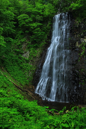 Standing or Valley of the summer waterfall Stok Fotoğraf - 99382987