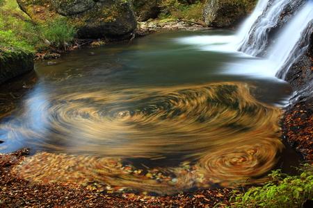 GE Jime autumn mountain stream waterfall