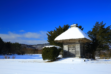 Kojin shrine in winter