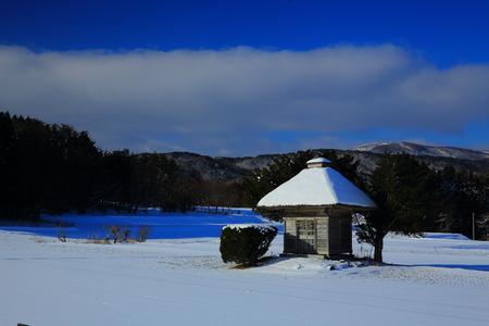 Kojin shrine in winter