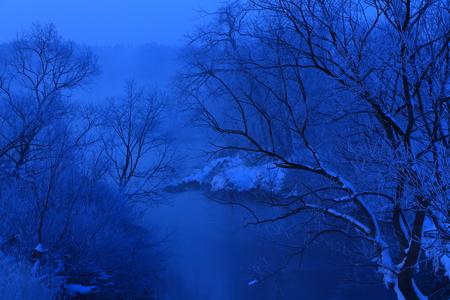 Kitakami River in winter Banco de Imagens