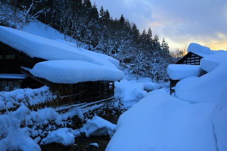 Winter nyuto Onsen 스톡 콘텐츠