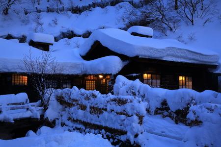 겨울 뉴토 온천 스톡 콘텐츠 - 96809029