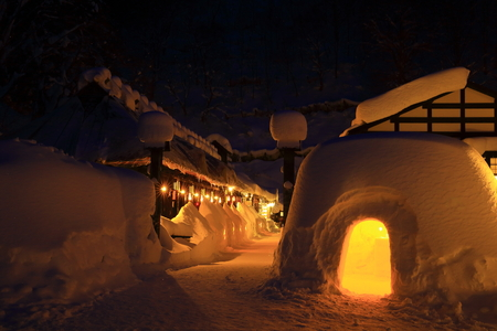 Winter nyuto Onsen Sajtókép