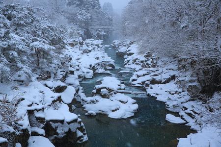 Genbikei winter scene Stock Photo