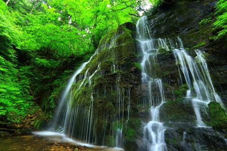 Summer waterfall-Sawa Stock Photo
