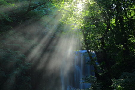 Summer kameda fudo waterfall Stock Photo