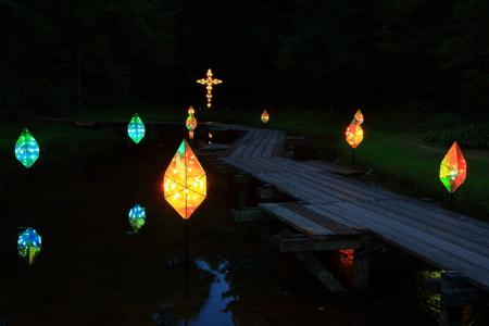 Illumination of the fairy tale village Kenji Miyazawa