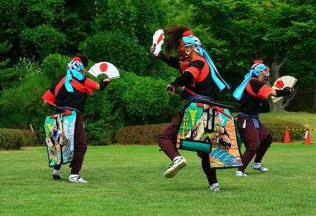 Oshu City Gallasy Ward Parknogisawa Nembutsu sword dance