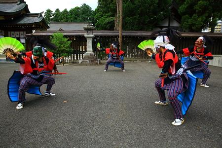Oshu-shi Kisawa Ward Minamita Wings Nembutsu sword dance