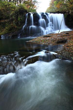Autumn mountain stream 写真素材