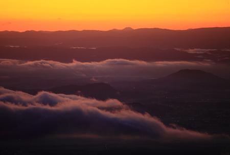Iwate Prefecture Yawata city dawn scenery