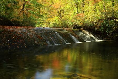 Peach Valley fall foliage Stok Fotoğraf - 113785904