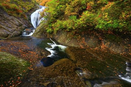 Akita Prefecture autumn Valley Stok Fotoğraf - 113785975