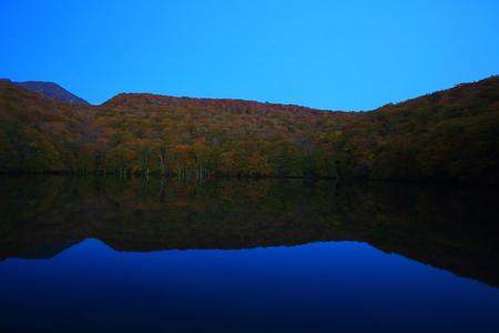 Aomori Prefecture autumn swamp 写真素材