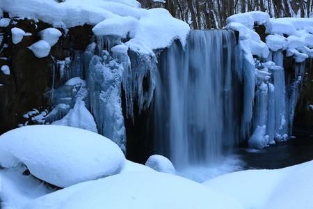 Oirase Gorge in winter Reklamní fotografie