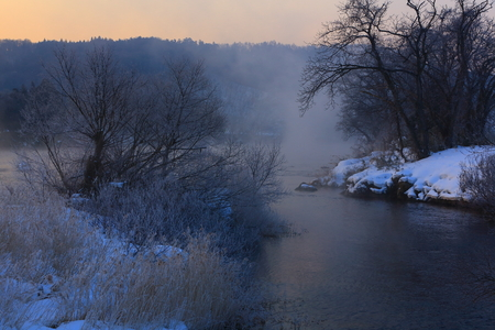 Winter view of the river