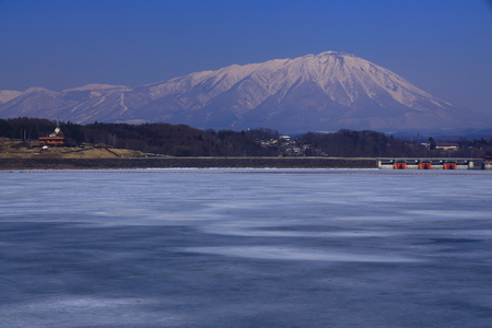 Winter at Iwate volcano and Lake Palace