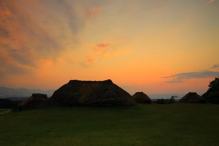 Kabayama ruins sunset