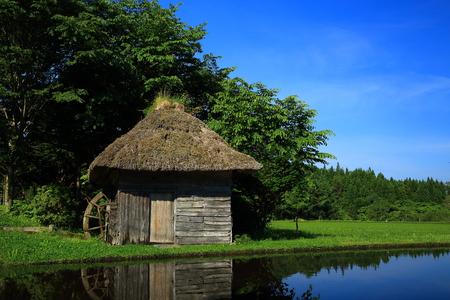 Tono Yamaguchi watermill Standard-Bild