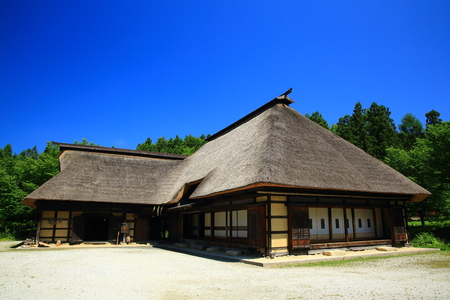 Furusato Village, Tono City, Iwate Prefecture Archivio Fotografico