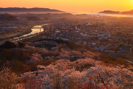 Funaoka Castle Park in spring. 写真素材 - 122454957