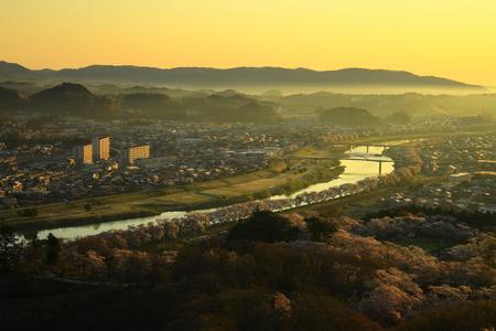 Funaoka Castle Park in spring. 写真素材 - 122454970