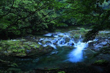Summer Mountain Stream in Kesengawa, Iwate Prefecture