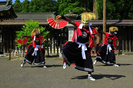 Iwate Prefectural Folk Performing Arts OnikenMai Banque d'images - 129404485