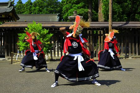 Iwate Prefectural Folk Performing Arts OnikenMai Banque d'images - 129404498