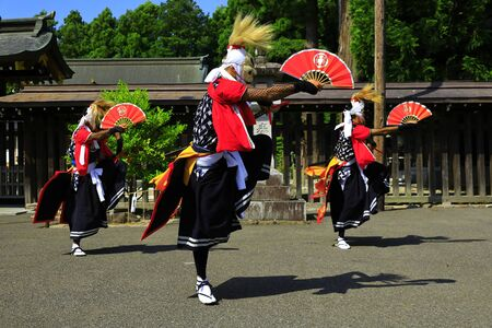 Iwate Prefectural Folk Performing Arts OnikenMai Banque d'images - 129404482
