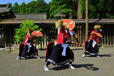 Iwate Prefectural Folk Performing Arts OnikenMai Banque d'images - 129404535