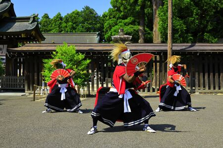 Iwate Prefectural Folk Performing Arts OnikenMai Banque d'images - 129404504