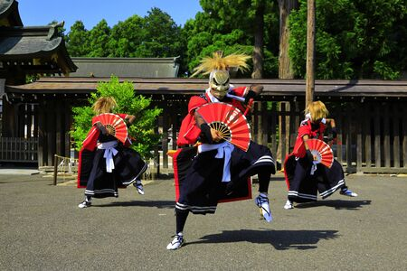 Iwate Prefectural Folk Performing Arts OnikenMai Banque d'images - 129404541