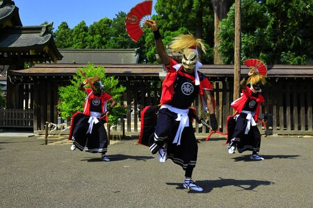 Iwate Prefectural Folk Performing Arts OnikenMai Banque d'images - 129404565