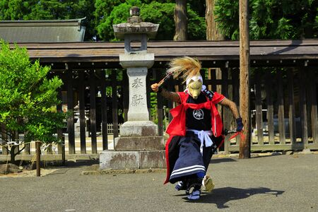 Iwate Prefectural Folk Performing Arts OnikenMai Banque d'images - 129404586