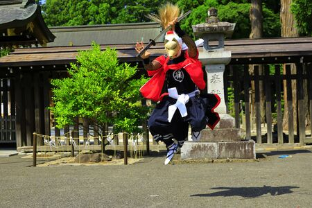 Iwate Prefectural Folk Performing Arts OnikenMai Banque d'images - 129404684