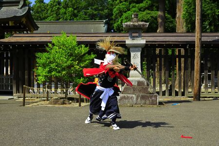 Iwate Prefectural Folk Performing Arts OnikenMai Banque d'images - 129404683