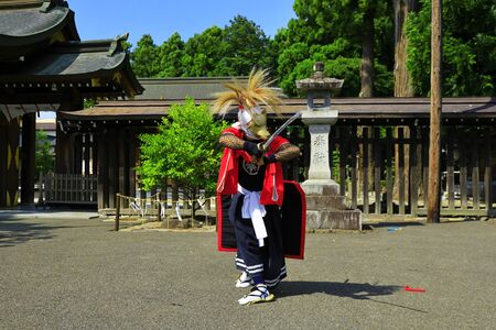Iwate Prefectural Folk Performing Arts OnikenMai Banque d'images - 129404686