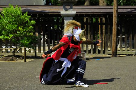 Iwate Prefectural Folk Performing Arts OnikenMai Banque d'images - 129404714