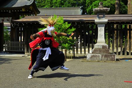 Iwate Prefectural Folk Performing Arts OnikenMai Banque d'images - 129404700