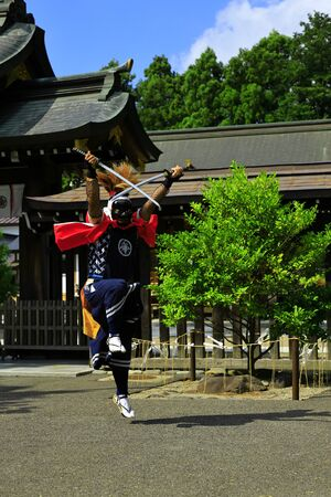 Iwate Prefectural Folk Performing Arts OnikenMai Banque d'images - 129404709
