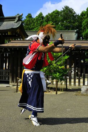 Iwate Prefectural Folk Performing Arts OnikenMai Banque d'images - 129404707