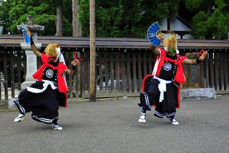 Iwate Prefectural Folk Performing Arts OnikenMai Banque d'images - 129404946