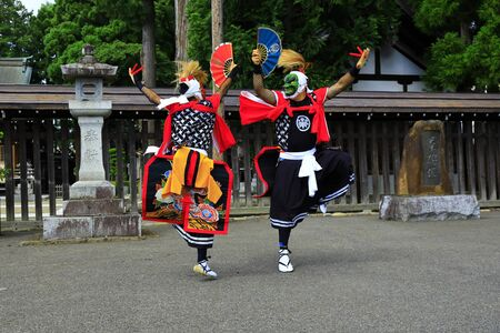 Iwate Prefectural Folk Performing Arts OnikenMai Banque d'images - 129404972