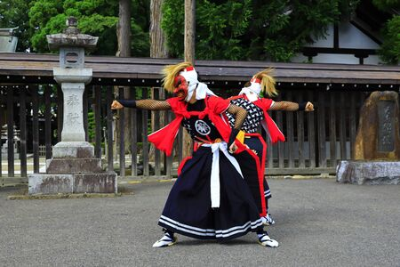 Iwate Prefectural Folk Performing Arts OnikenMai Banque d'images - 129404992