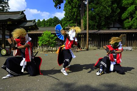 Iwate Prefectural Folk Performing Arts OnikenMai Banque d'images - 129405020