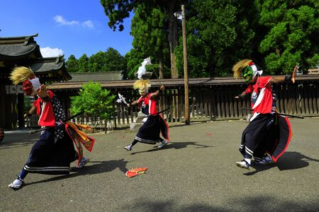 Iwate Prefectural Folk Performing Arts OnikenMai Banque d'images - 129405111