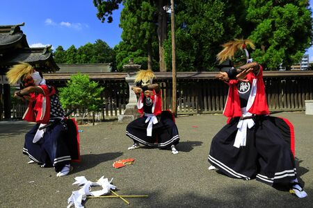 Iwate Prefectural Folk Performing Arts OnikenMai Banque d'images - 129405100