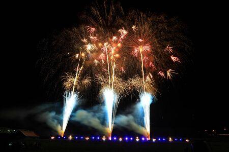Hanamaki Fireworks Display Stockfoto - 129402846